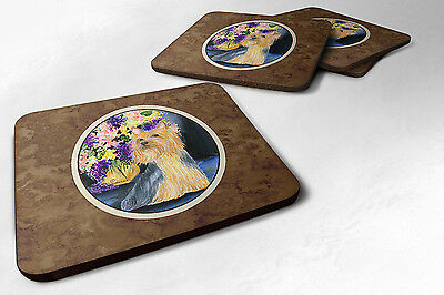 Carolines Treasures  SS8293FC Set of 4 Silky Terrier Foam Coasters