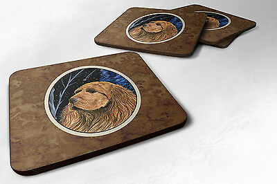 Carolines Treasures  SS8391FC Starry Night Sussex Spaniel Foam Coasters Set of 4
