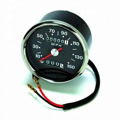 Classic Motorcycle Triumph/BSA/Norton - Speedometer Black face