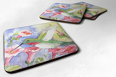 Carolines Treasures  KR9014FC Set of 4 Bird - Hummingbird Foam Coasters