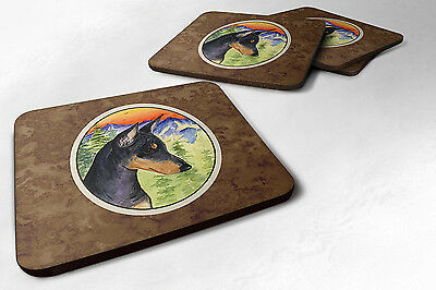 Carolines Treasures  SS8425FC Set of 4 Manchester Terrier Foam Coasters