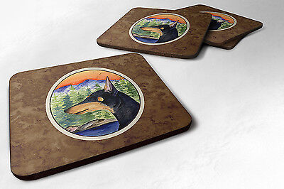 Carolines Treasures  SS8433FC Set of 4 Manchester Terrier Foam Coasters