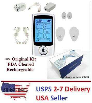 TENS Unit 16 Mode Digital Electronic Pulse Massage Therapy Muscle Full Body UI