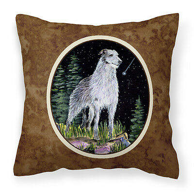 Starry Night Scottish Deerhound  Decorative   Canvas Fabric Pillow