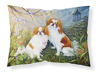 Japanese Chin Wasabi and Ginger Fabric Standard Pillowcase