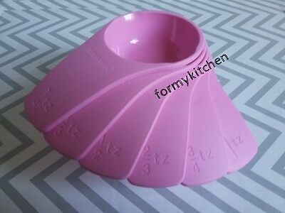 Tupperware Measuring Cups Set 6 New Design Pink New