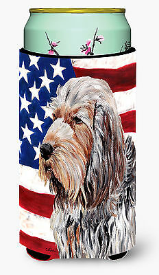 Otterhound with American Flag USA Tall Boy Beverage Insulator Hugger