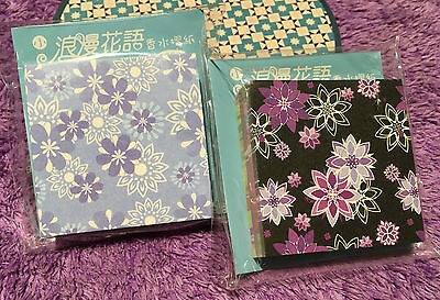 120pcs Mini Origami Color Paper Crafts Sented Sheets Japanese Beautiful Flower