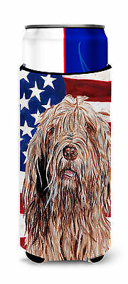 Otterhound with American Flag USA Ultra Beverage Insulators for slim cans