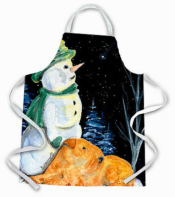 Carolines Treasures  SS8555APRON Snowman with Lakeland Terrier Apron