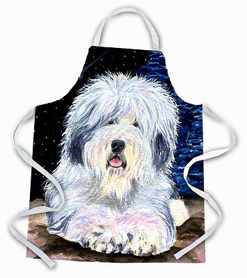 Carolines Treasures  SS8443APRON Starry Night Old English Sheepdog Apron