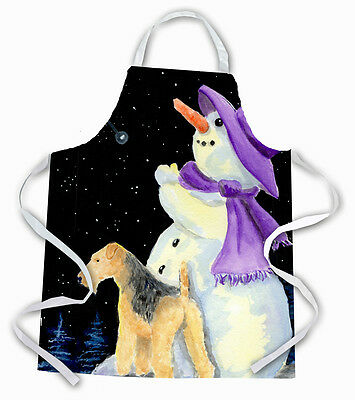 Carolines Treasures  SS8956APRON Snowman with Lakeland Terrier Apron