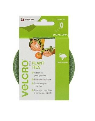 Plant Ties Velcro Easy to Use Adjustable Weatherproof Strip on a Roll12mmx5M