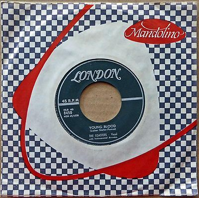 """7"""" The Coasters - Searchin' / Young Blood - Frankreich ?? 1957 - VG+(+) to VG++"""