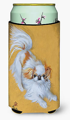 Japanese Chin Red White Play Tall Boy Beverage Insulator Hugger