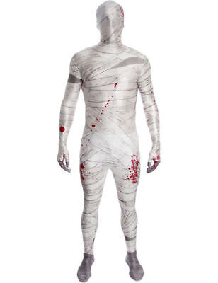 Adult Unisex Halloween Egyptian Mummy Stag Fancy Dress Costume Morphsuit