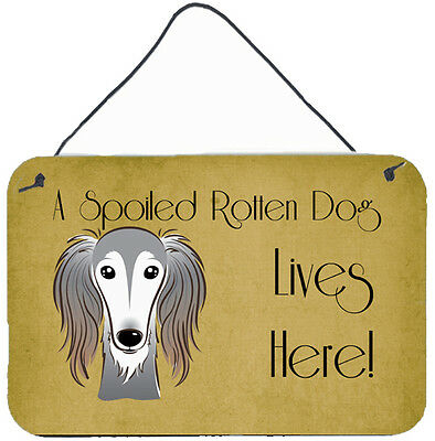 Saluki Spoiled Dog Lives Here Wall or Door Hanging Prints