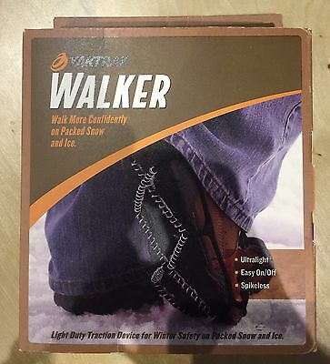 Yaktrax Walker Ultralight Spikeless Traction Cleats - Black - Size Small