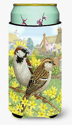 House Sparrows Tall Boy Beverage Insulator Hugger