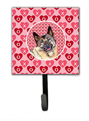 Norwegian Elkhound Valentine's Love and Hearts Leash or Key Holder