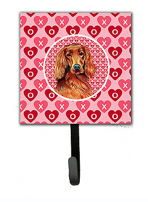 Irish Setter Valentine's Love and Hearts Leash or Key Holder