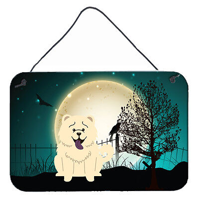 Halloween Scary Chow Chow White Wall or Door Hanging Prints