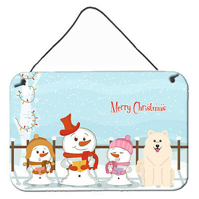 Merry Christmas Carolers Samoyed Wall or Door Hanging Prints