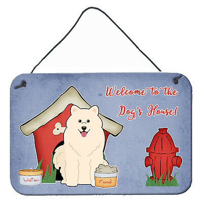 Dog House Collection Samoyed Wall or Door Hanging Prints