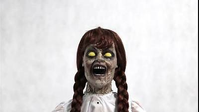 Animated Talking Grim Girl Creepy Doll Halloween Prop Annabelle See Video!