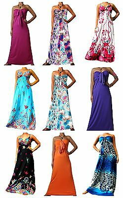 Angela Ladies Floral Maxi Long Summer Holiday Maternity Plus Size Dress UK