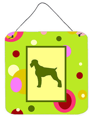 German Wirehaired Pointer Aluminium Metal Wall or Door Hanging Prints
