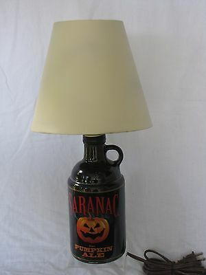 Hand Crafted Saranac Pumpkin Ale Table Lamp