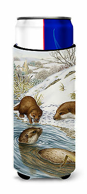 Otter at Play Ultra Beverage Insulators for slim cans