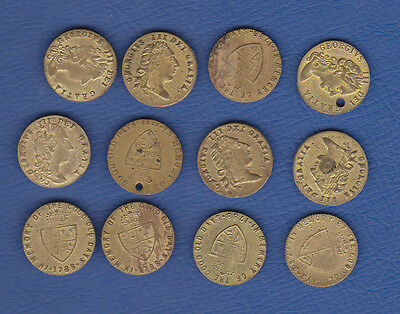 C G3T.  Quantity of 12 Spade half guineas c1800-1900. George III King of England