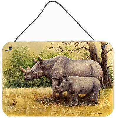 Rhinoceros by Daphne Baxter Wall or Door Hanging Prints