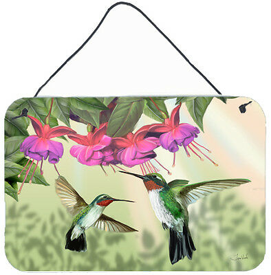 Fuchsia and Hummingbirds Wall or Door Hanging Prints
