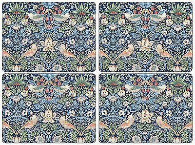 Pimpernel Strawberry Thief Blue Table Placemats Large Continental Size Set Of 4