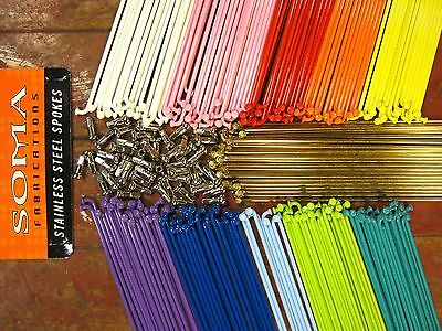 SOMA SPOKES 2.0mm 14 g. Stainless Steel *11 COLORS/MIX**Any Qty.**Any Length*NEW