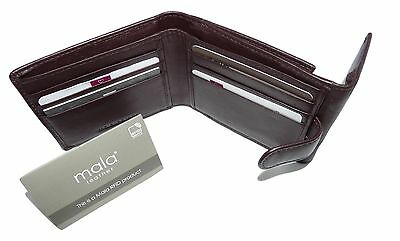 NEW Mala BROWN Leather Origin Wallet & LARGE Coin Pocket & RFID mens 155 5