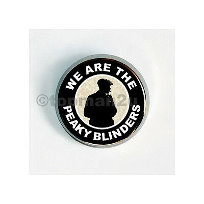New, Quality Circular Metal Pin Badge - We Are The Peaky Blinders - BCFC, Blues