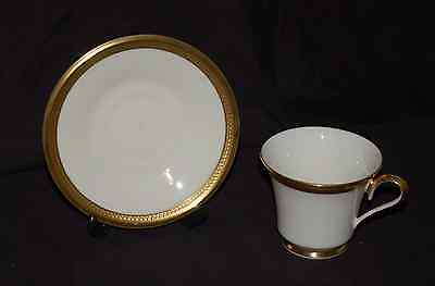 (1) Lenox Cup and Saucer Set(s)   Aristocrat Ivory and Gold  Great Shape