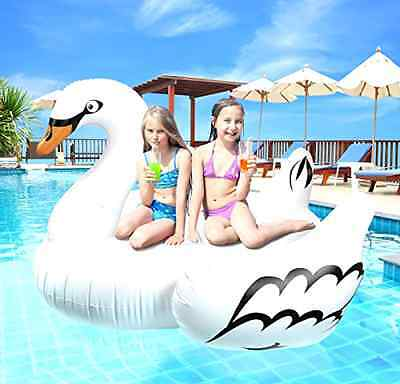 """NEW Greenco Giant Inflatable Swan Float 75"""""""