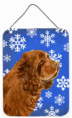 Sussex Spaniel Winter Snowflakes Holiday Wall or Door Hanging Prints