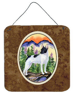 Carolines Treasures  SS8224DS66 Rat Terrier Aluminium Metal Wall or Door Hanging