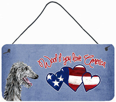 Woof if you love America Scottish Deerhound Wall or Door Hanging Prints