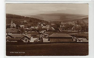 STOW FROM RAILWAY STATION: Midlothian postcard (C21140)