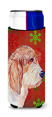 Petit Basset Griffon Vendeen Red Green Snowflake Christmas Ultra Beverage Insula