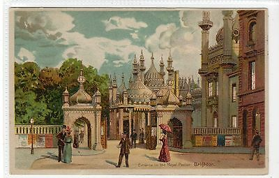 ENTRANCE TO THE ROYAL PAVILION, BRIGHTON: Hold to Light postcard (C21405)