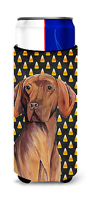 Vizsla Candy Corn Halloween Portrait Ultra Beverage Insulators for slim cans