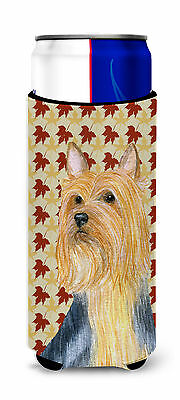 Silky Terrier Fall Leaves Portrait Ultra Beverage Insulators for slim cans